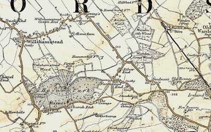 Old map of Haynes in 1898-1901