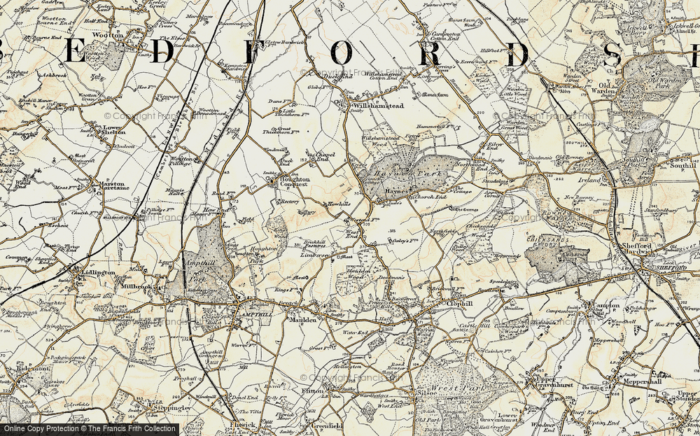 Old Map of Historic Map covering Lark Hill in 1898-1901