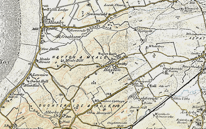 Old map of Hayton in 1901-1904