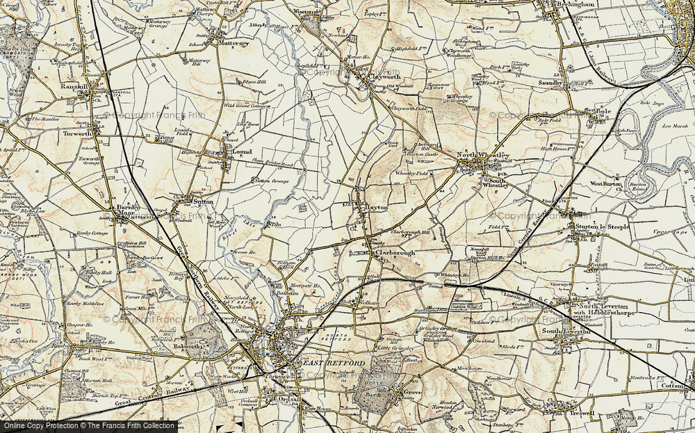 Old Map of Historic Map covering Tiln in 1902-1903
