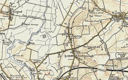 Old map of Tiln Holt in 1902-1903