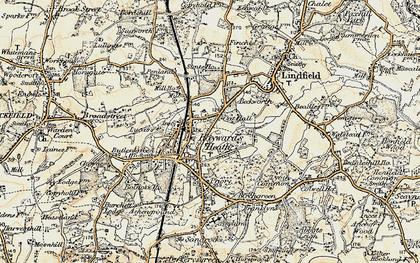 Haywards Heath Map Haywards Heath photos, maps, books, memories   Francis Frith Haywards Heath Map