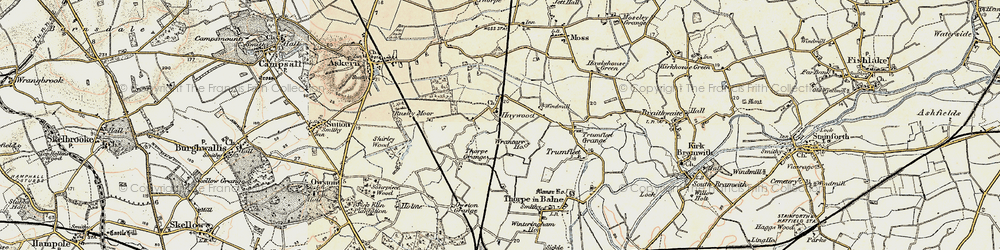 Old map of Wrancarr Ho in 1903