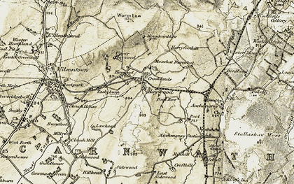 Old map of Worm Law in 1904-1905