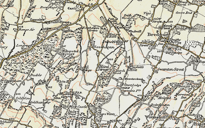 Old map of Admiral Wood in 1897-1898