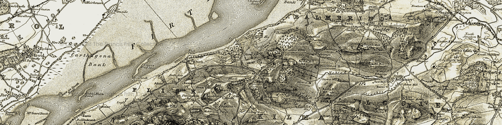 Old map of Lewes Wood in 1906-1908