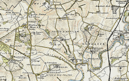 Old map of Bank Ho in 1901-1903