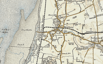 Old map of Heacham in 1901-1902