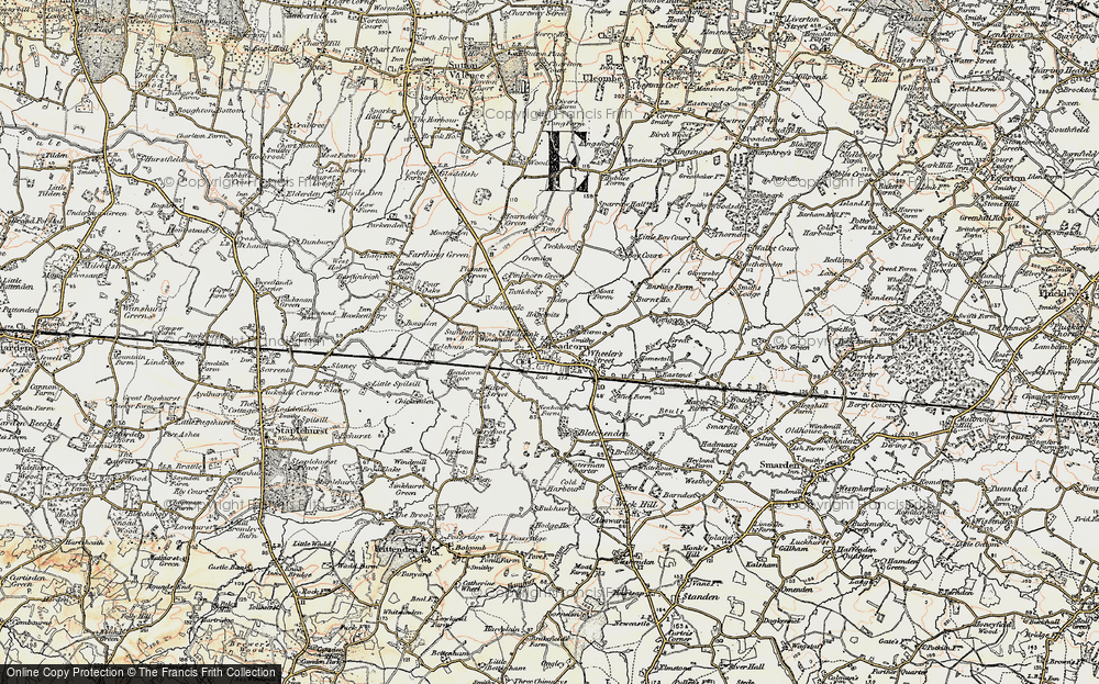 Old Map of Historic Map covering Tilden in 1897-1898