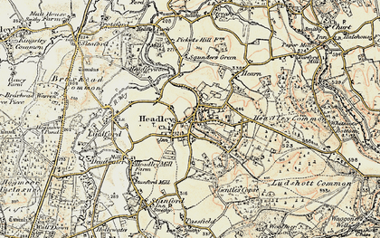 Old map of Headley in 1897-1909