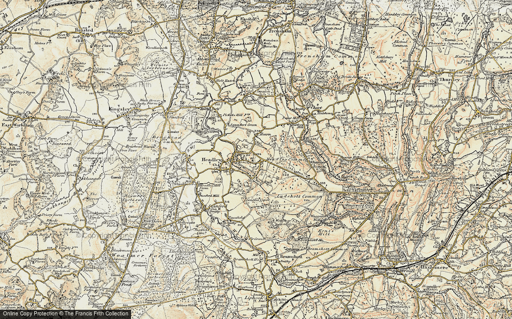 Old Map of Headley Down, 1897-1909 in 1897-1909