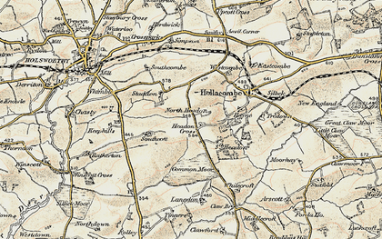 Old map of Whitecroft in 1900