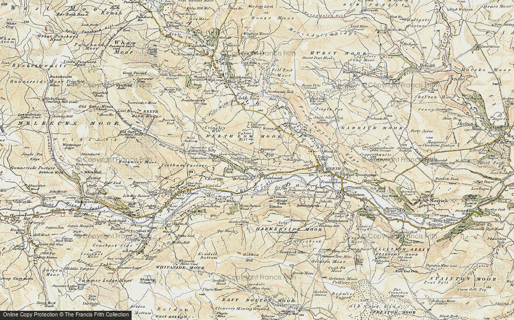 Old Map of Healaugh, 1903-1904 in 1903-1904