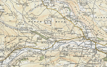 Old map of Healaugh in 1903-1904