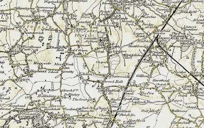 Old map of Heald Green in 1902-1903