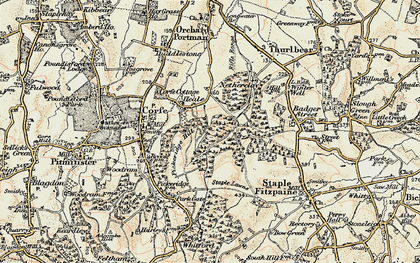 Old map of Lime Ridge Wood in 1898-1900