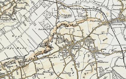 Old map of West Sedge Moor in 1898-1900