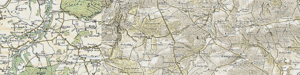 Old map of Healey in 1901-1904