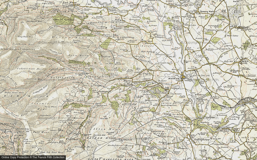 Old Map of Healey, 1903-1904 in 1903-1904
