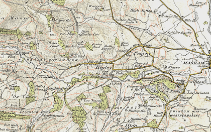 Old map of Healey in 1903-1904