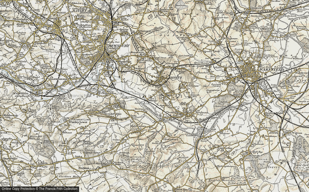 Old Map of Healey, 1903 in 1903