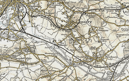 Old map of Healey in 1903