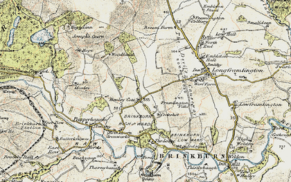 Old map of West Raw in 1901-1903