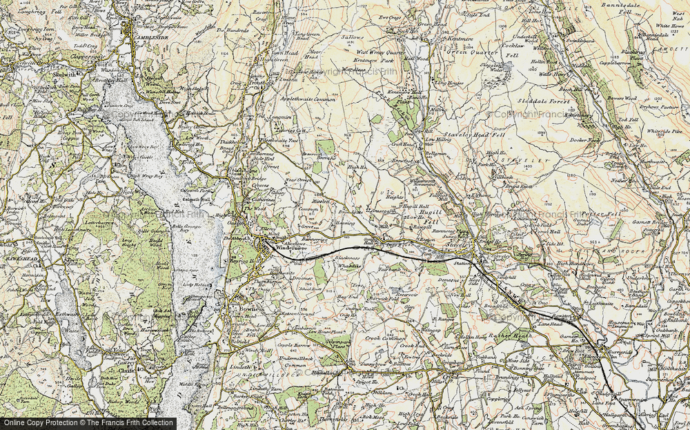 Old Map of Historic Map covering Banner Rigg in 1903-1904