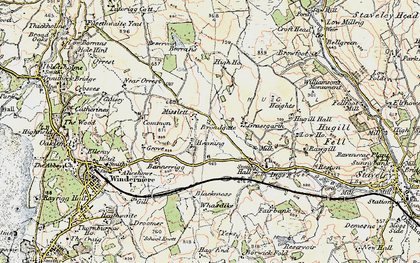 Old map of Banner Rigg in 1903-1904