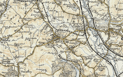 Old map of Heanor in 1902