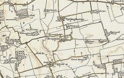 Old map of Willoughton Wood in 1903