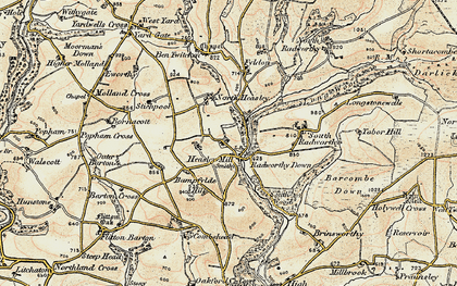 Old map of Bampfylde Hill in 1900