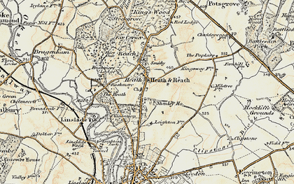 Old map of Heath and Reach in 1898-1899