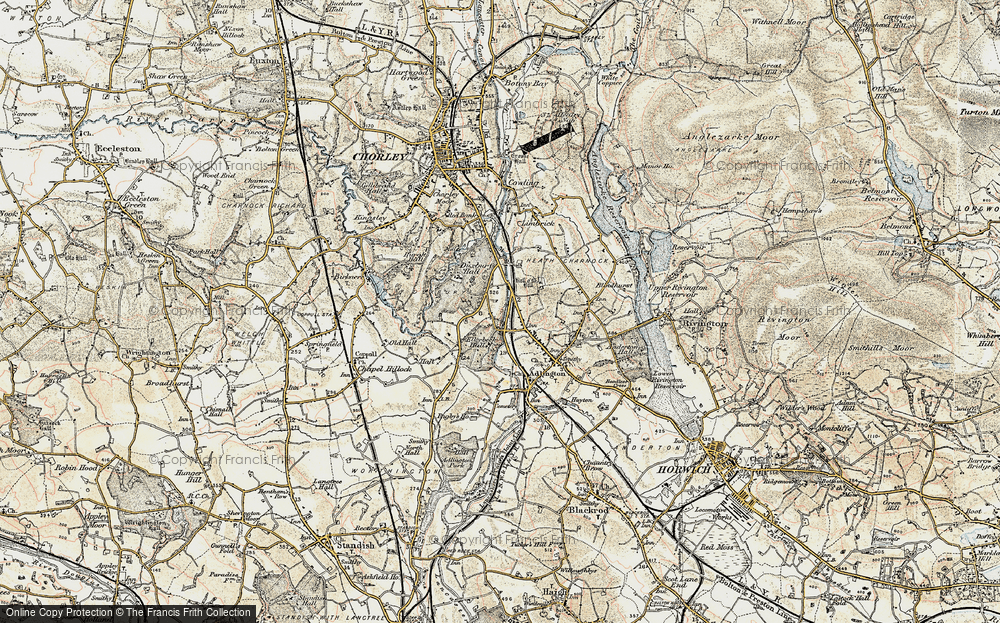 Old Map of Heath Charnock, 1903 in 1903