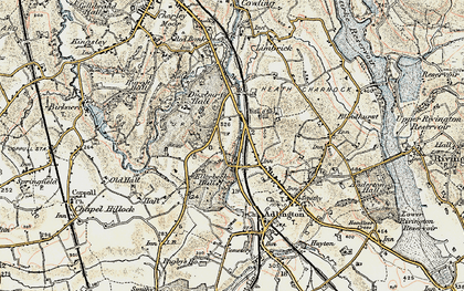 Old map of Heath Charnock in 1903