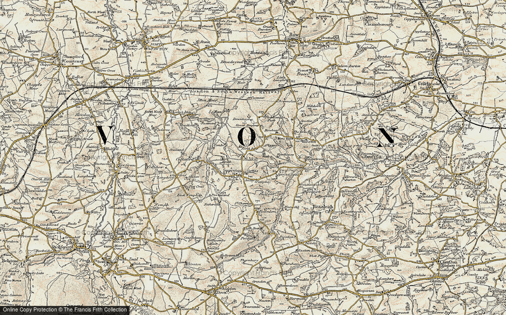 Old Map of Historic Map covering Woodhouse in 1899-1900