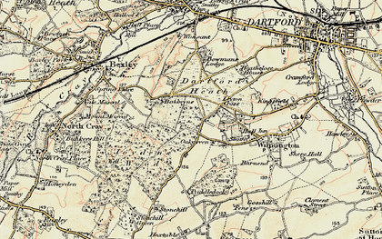 Old map of Leyton Cross in 1897-1898