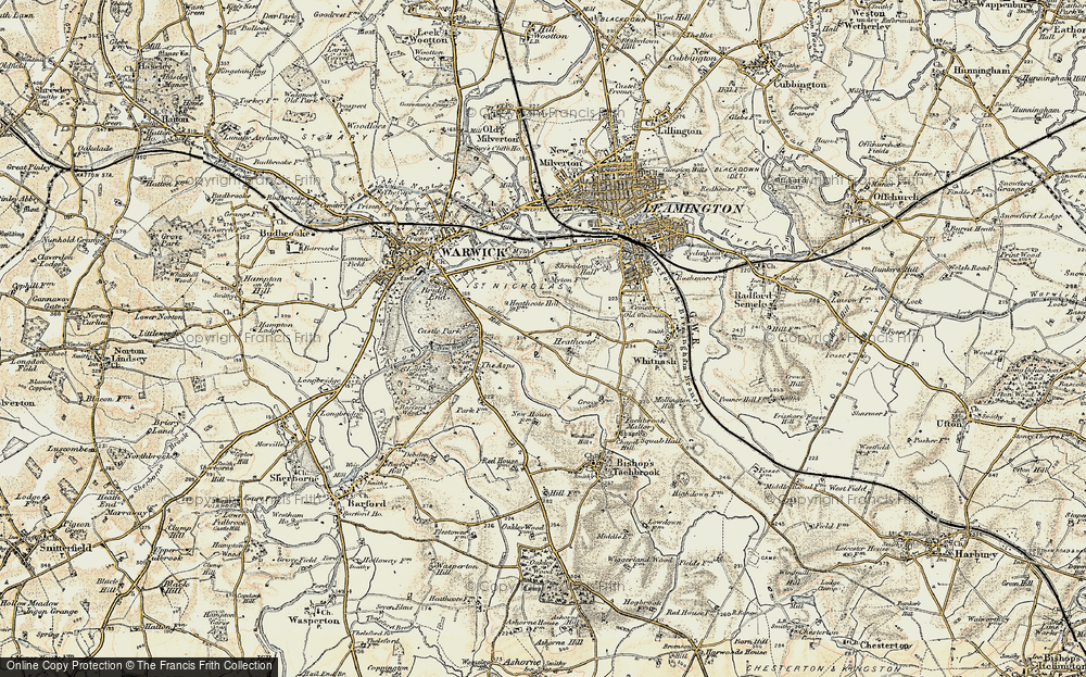Old Map of Historic Map covering Asps, The in 1899-1902