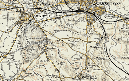 Old map of Asps, The in 1899-1902