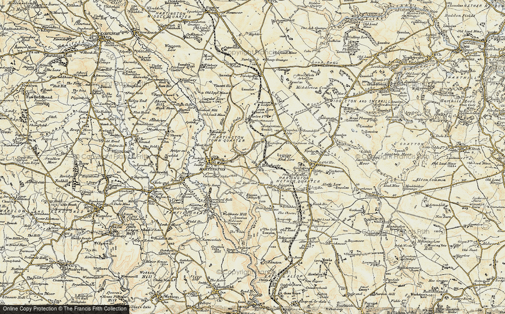 Old Map of Historic Map covering Lean Low in 1902-1903