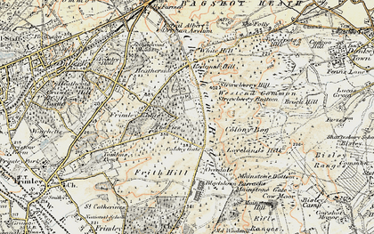 Old map of White Hill in 1897-1909