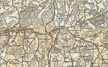 Old map of Heathfield in 1898