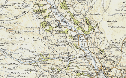Old map of West Wood Ho in 1903-1904