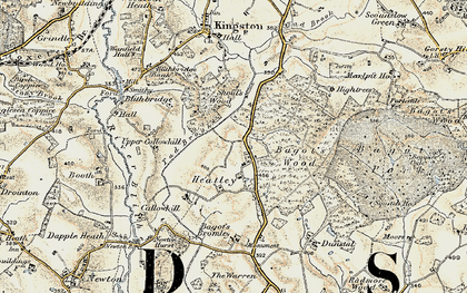 Old map of Bagot Forest in 1902