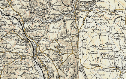 Old map of Willott's Hill in 1902-1903