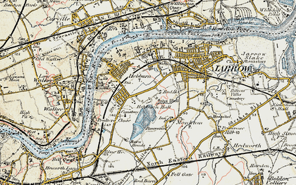 Old map of Hebburn in 1901-1904