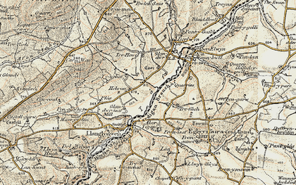 Old map of Hebron in 1901
