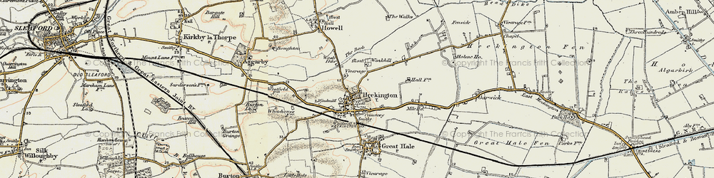 Old map of Winkhill in 1902-1903
