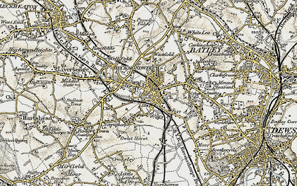 Old map of Heckmondwike in 1903