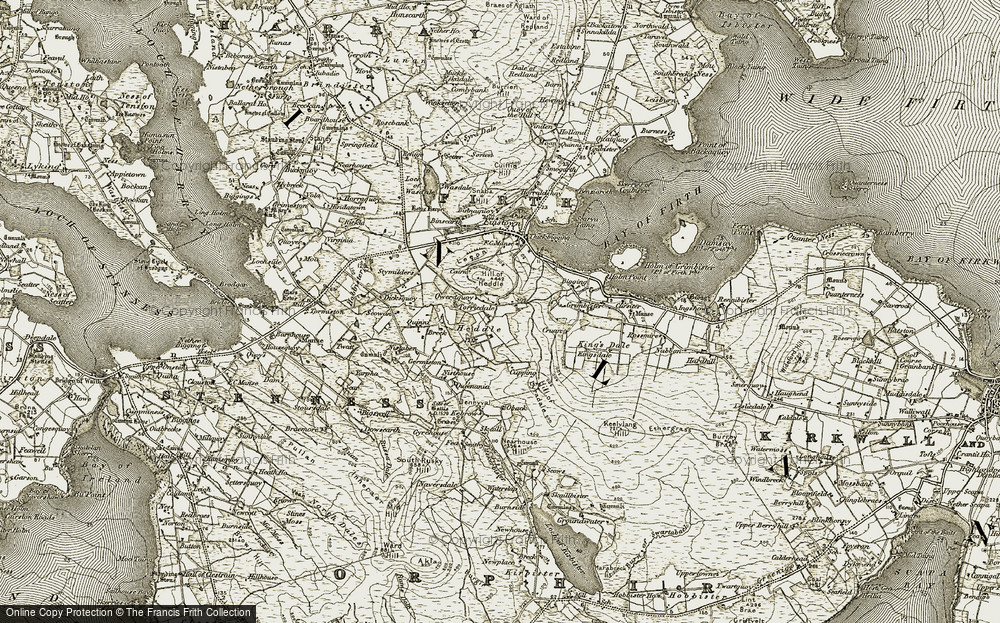 Old Map of Historic Map covering Woodburn in 1911-1912
